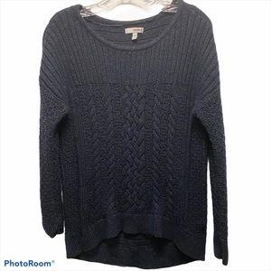 SONOMA Cable Knit chunky sweater black medium